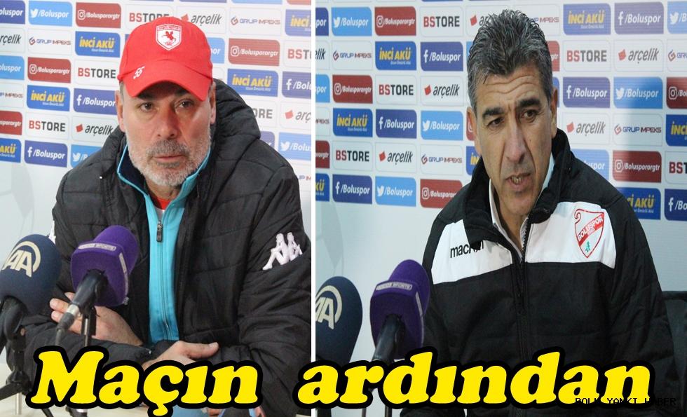 Boluspor - Samsunspor maçının ardından