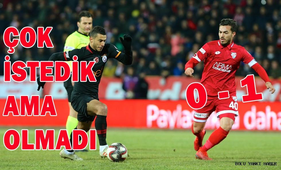 Boluspor: 0 - Galatasaray: 1