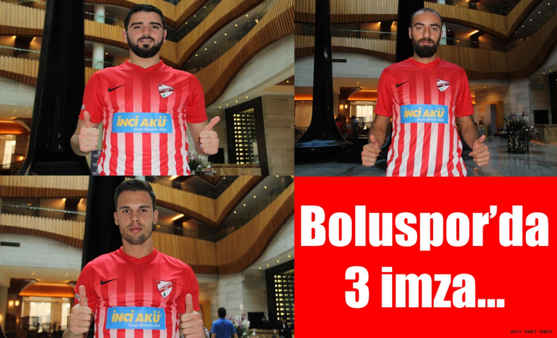 Boluspor 3 oyuncu ile sözleşme imzaladı