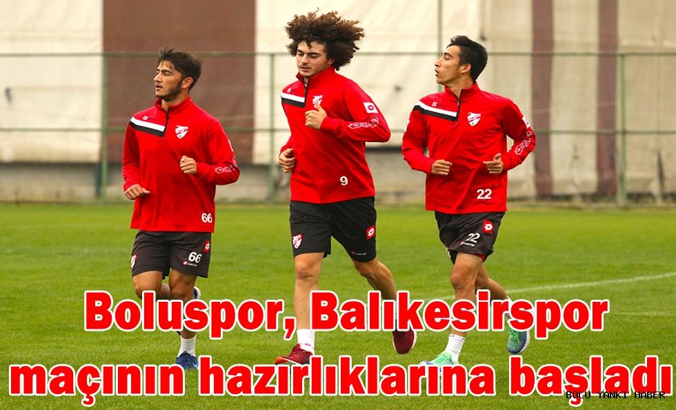 Boluspor, Balıkesirspor  maçının hazırlıklarına başladı
