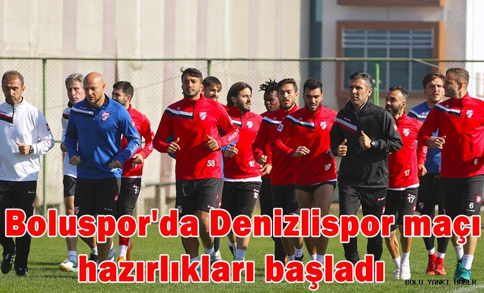 Boluspor'da Denizlispor maçı hazırlıkları başladı