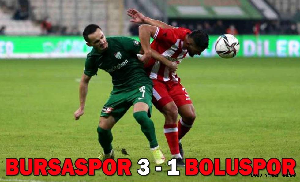 Bursaspor: 3 - Beypiliç Boluspor: 1