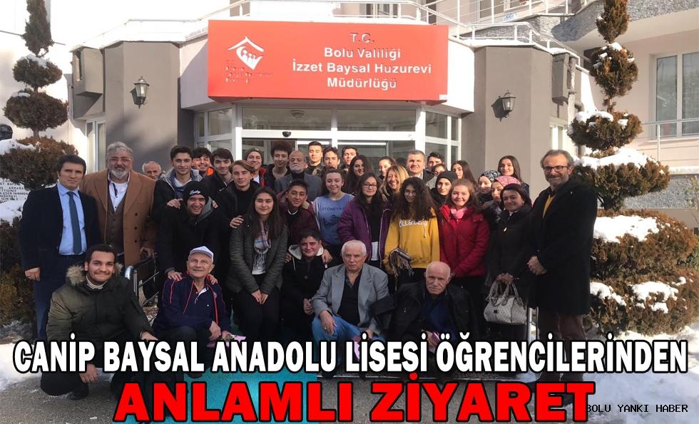 Canip Baysal Anadolu Lisesi Öğrencilerinden Anlamlı Ziyaret