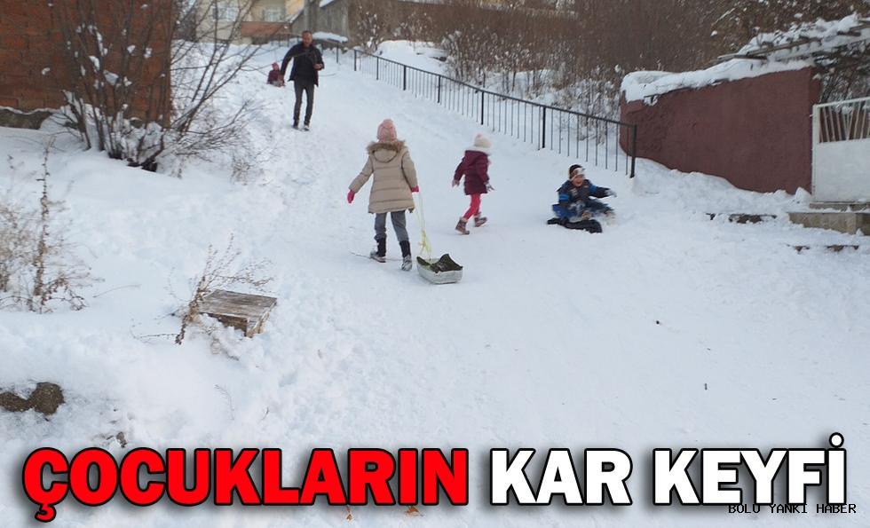 Çocukların kar keyfi