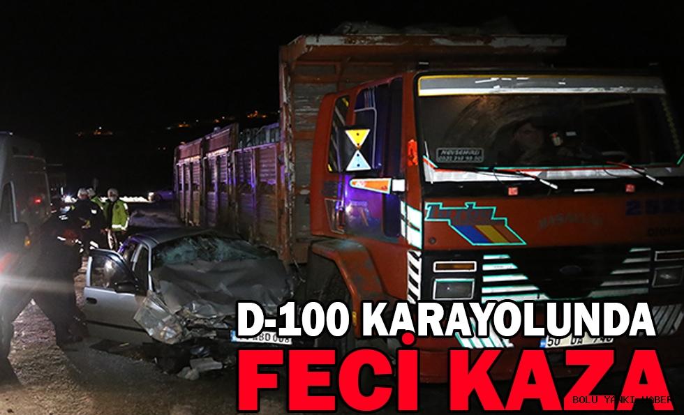 D-100 KARAYOLUNDA FECİ KAZA: 2 YARALI