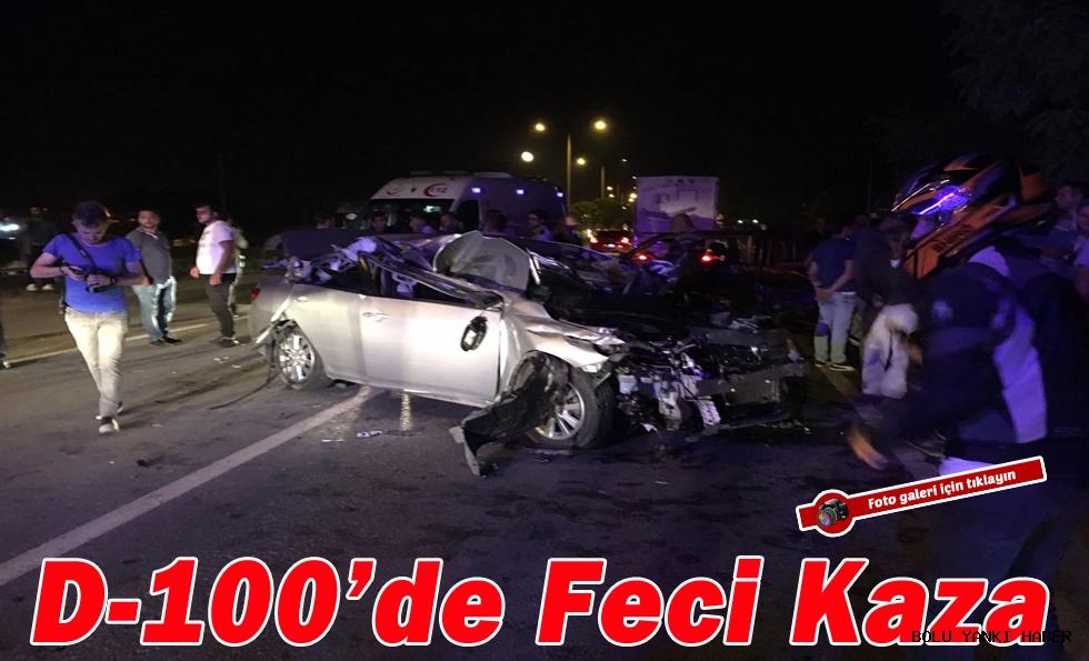 D-100'de Feci Kaza