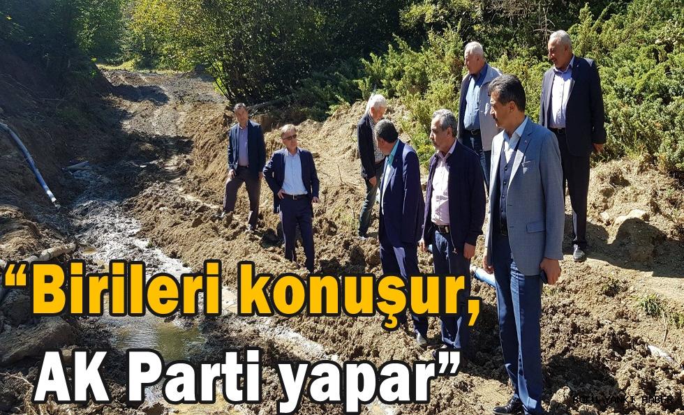 Doğanay;''Birileri  konuşur, AK Parti yapar''