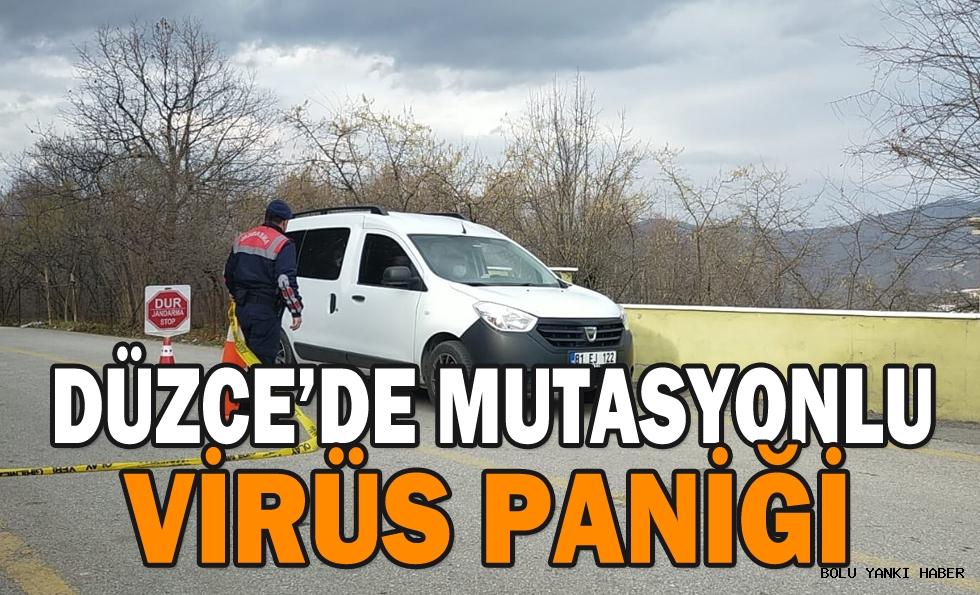DÜZCE'DE MUTASYONLU VİRÜS PANİĞİ
