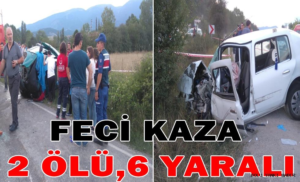Feci Kaza 2 ölü,6 yaralı