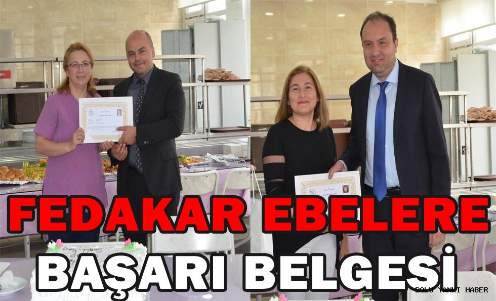 FEDAKAR EBELERE BAŞARI BELGESİ
