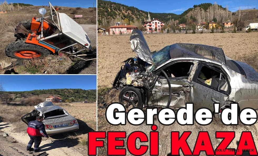 Gerede'de Feci Kaza