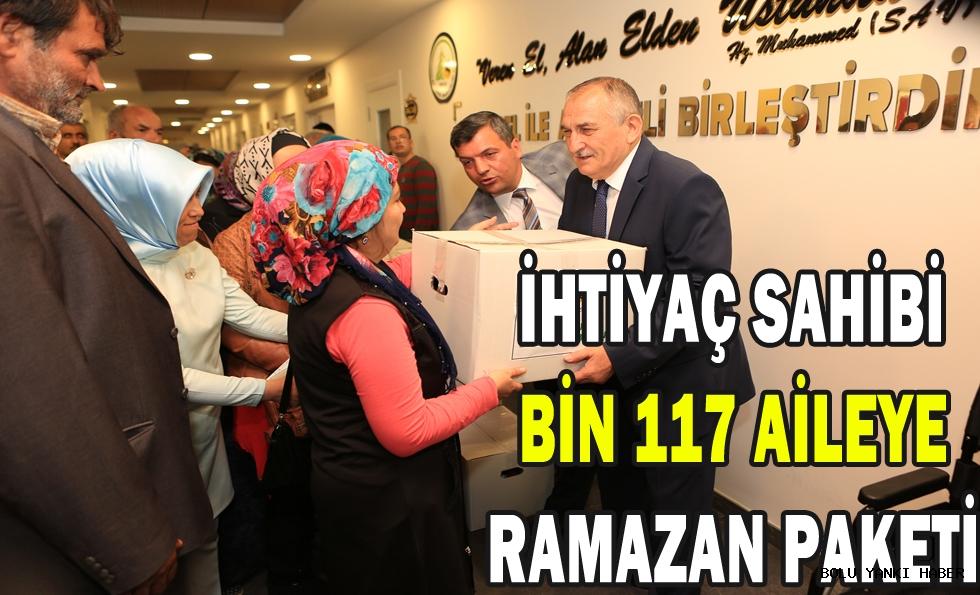 İhtiyaç sahibi bin 117 aileye ramazan paketi