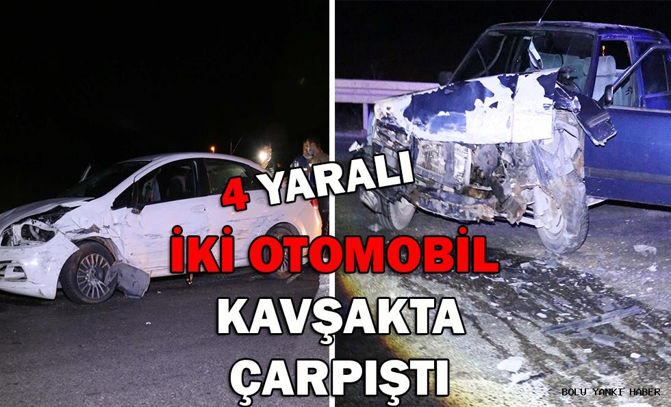 İki otomobil kavşakta çarpıştı: 4 yaralı