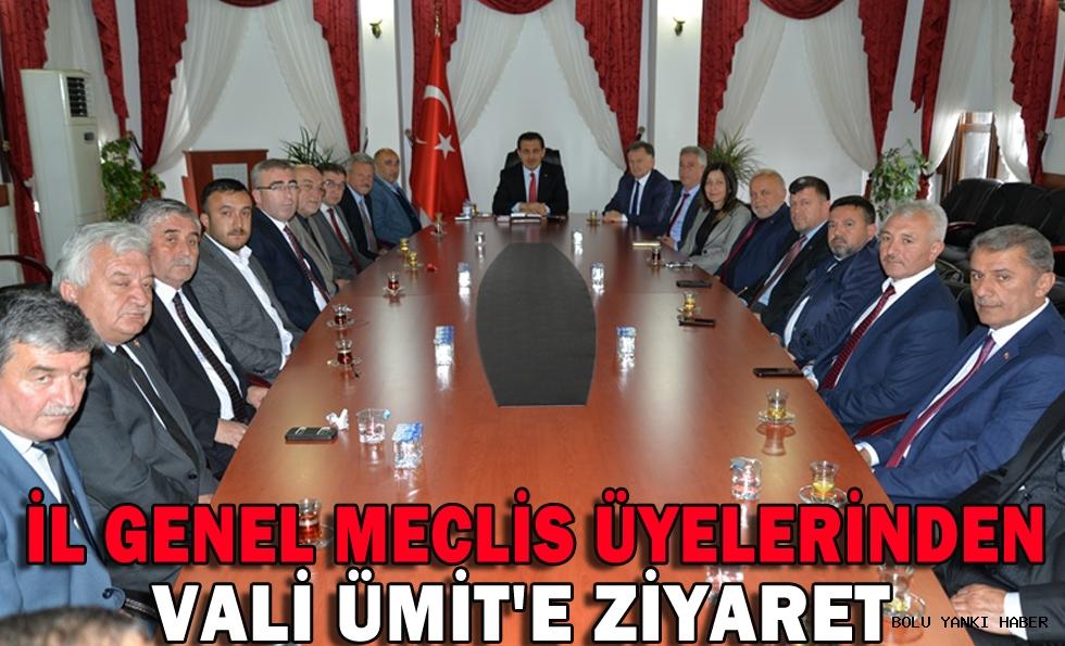 İl Genel Meclis Üyelerinden Vali Ümit'e Ziyaret