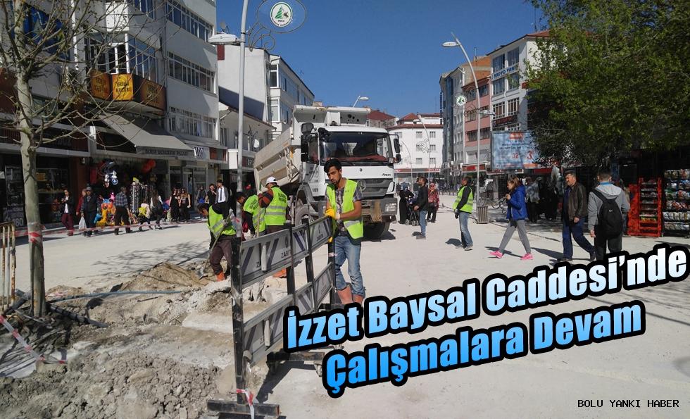 İzzet Baysal Caddesi'nde çalışmalara devam