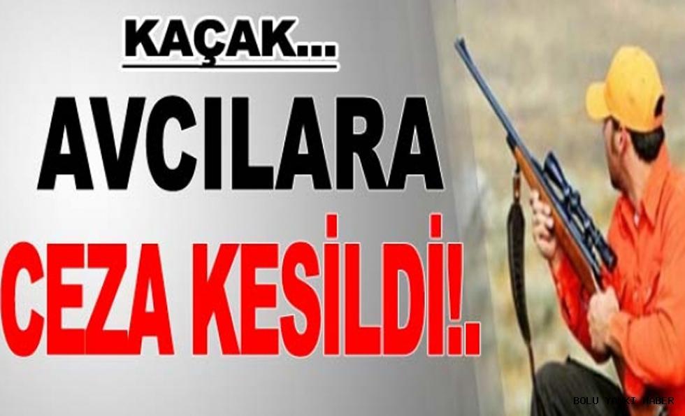 KAÇAK AVCILARA CEZA KESİLDİ!.
