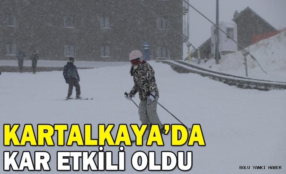 Kartalkaya'da  kar etkili oldu