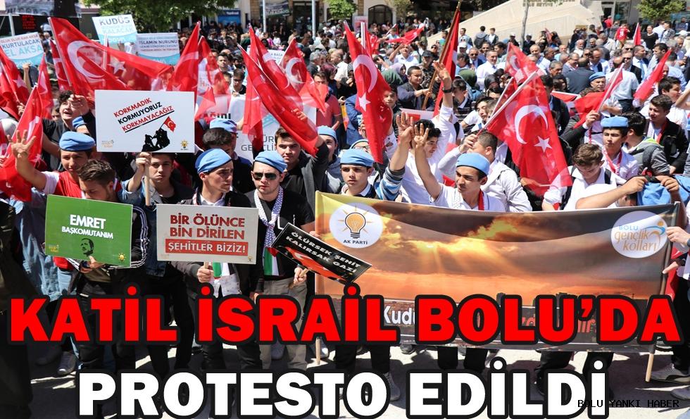 Katil israil Bolu'da protesto edildi