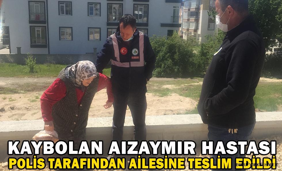 Kaybolan alzaymır hastası  polis tarafından ailesine teslim edildi