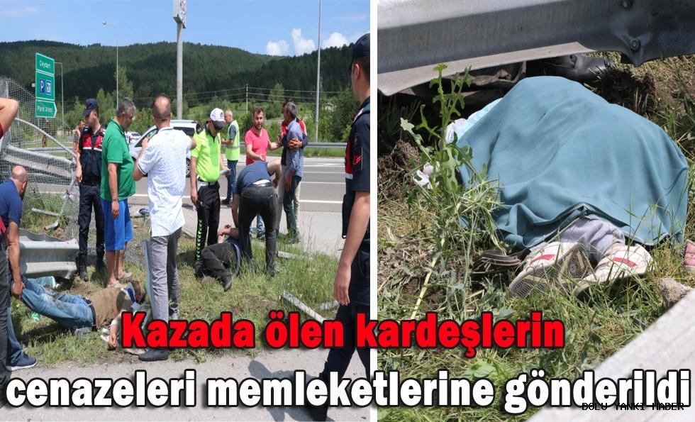 Kazada ölen kardeşlerin cenazeleri memleketlerine gönderildi