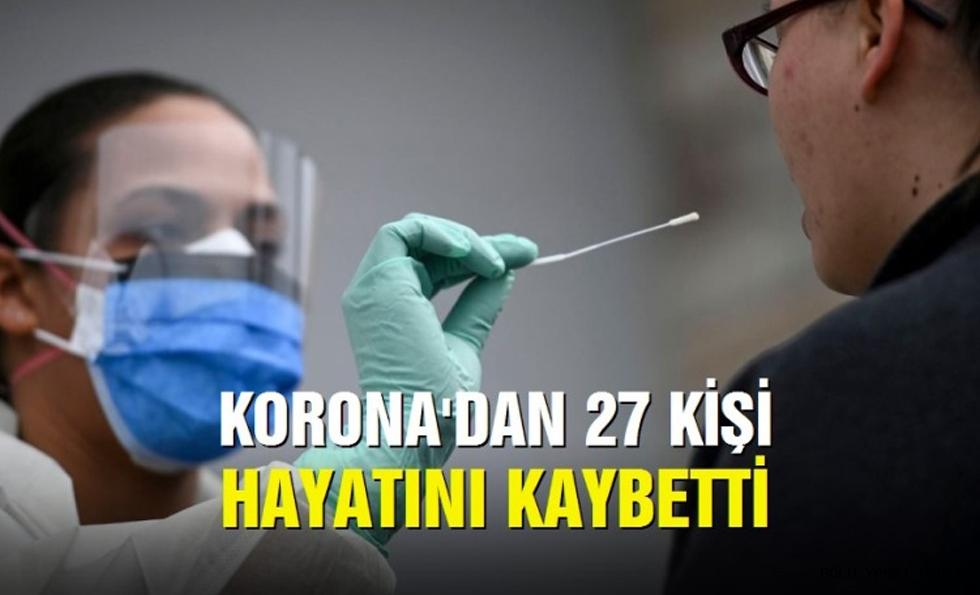 Korona virüsten bugün 27 kişi hayatını kaybetti
