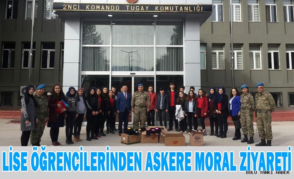 Lise Öğrencilerinden Askere Moral Ziyareti