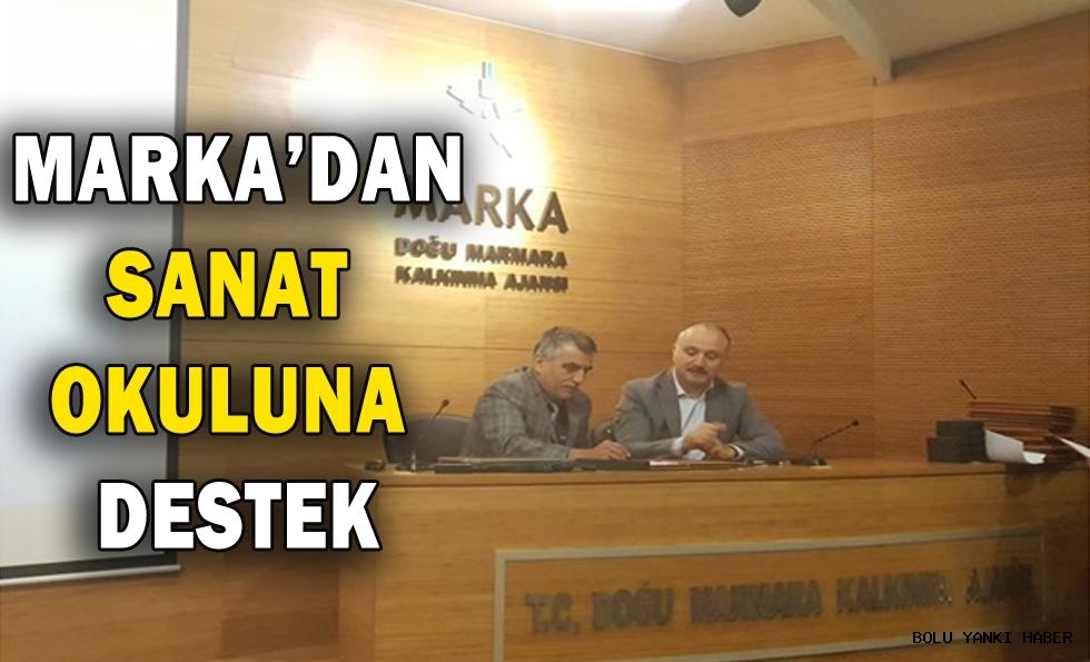 MARKA'DAN SANAT OKULUNA DESTEK