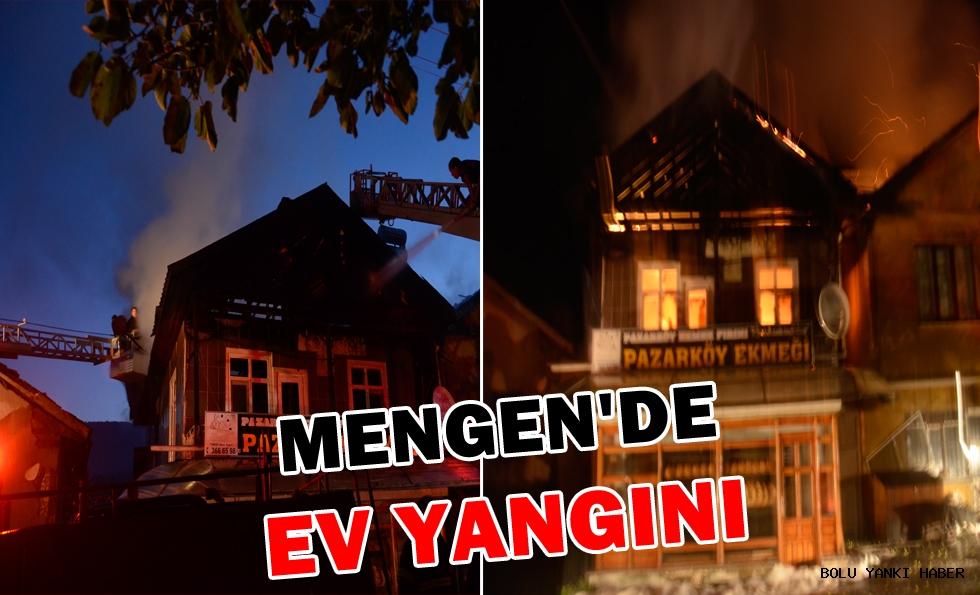 Mengen'de ev yangını