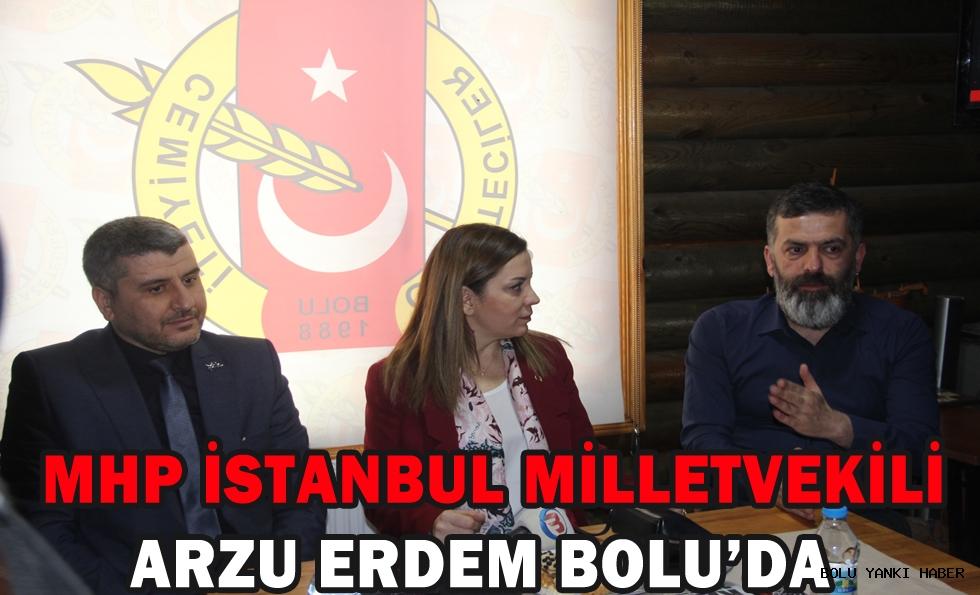 MHP İstanbul Milletvekili Arzu Erdem Bolu'da