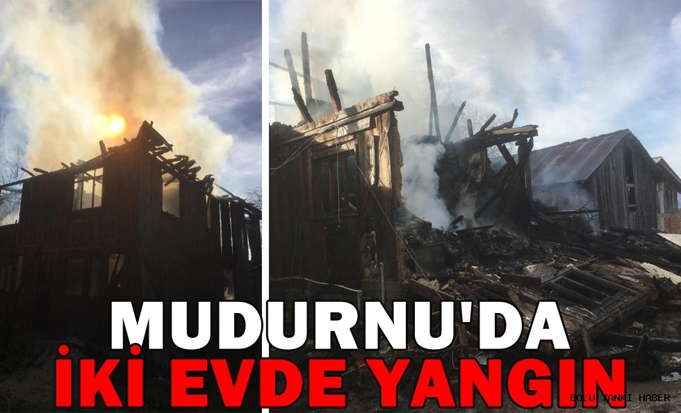 Mudurnu'da İki Evde Yangın