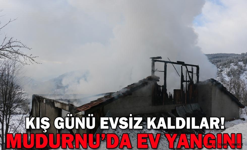 Mudurnu'daki yangında bir ev kullanılamaz hale geldi
