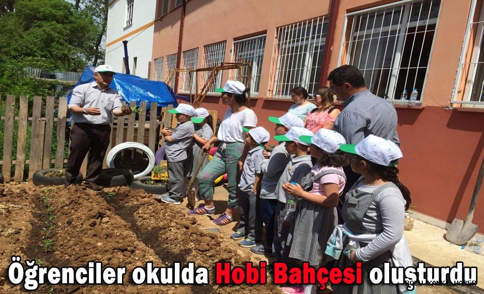 Öğrenciler okulda Hobi Bahçesi oluşturdu