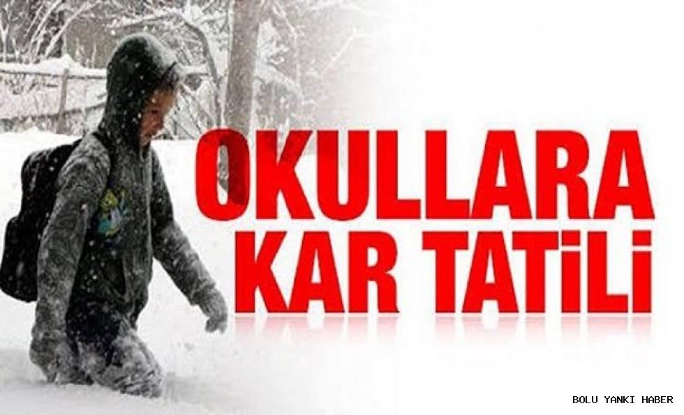 Okullara kar tatili!!!