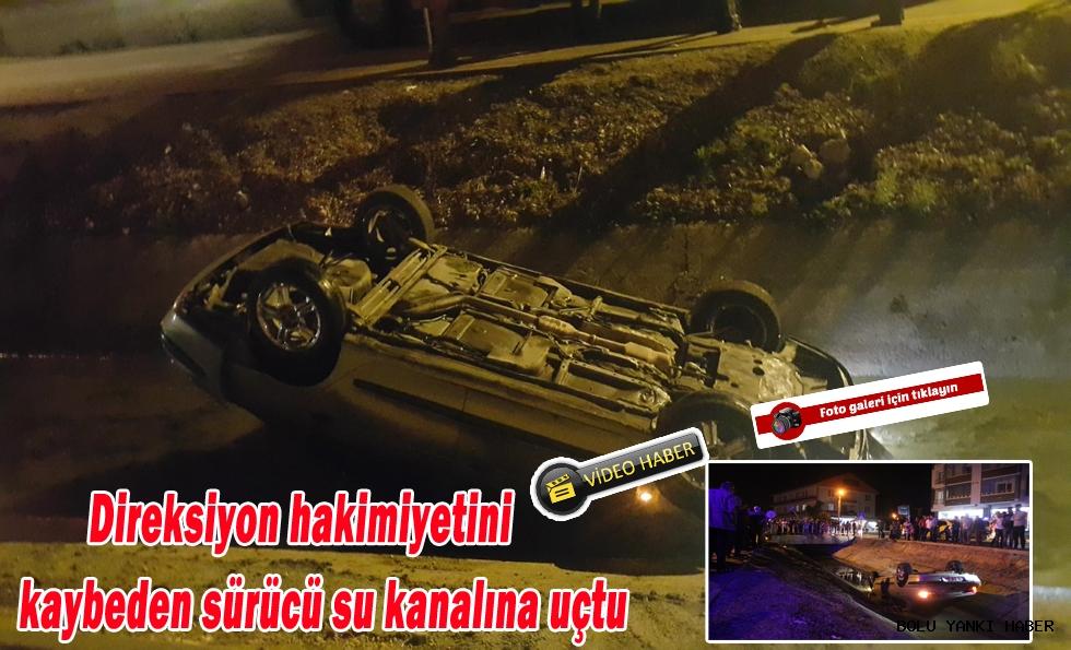Otomobil Kanala Uçtu; 2 yaralı