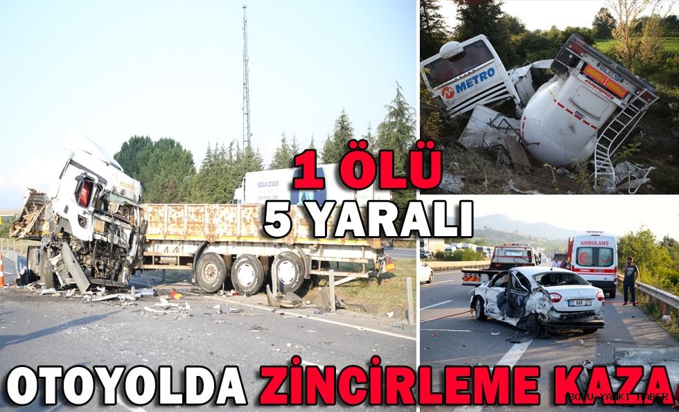 Otoyolda zincirleme kaza: 1 ölü, 5 yaralı
