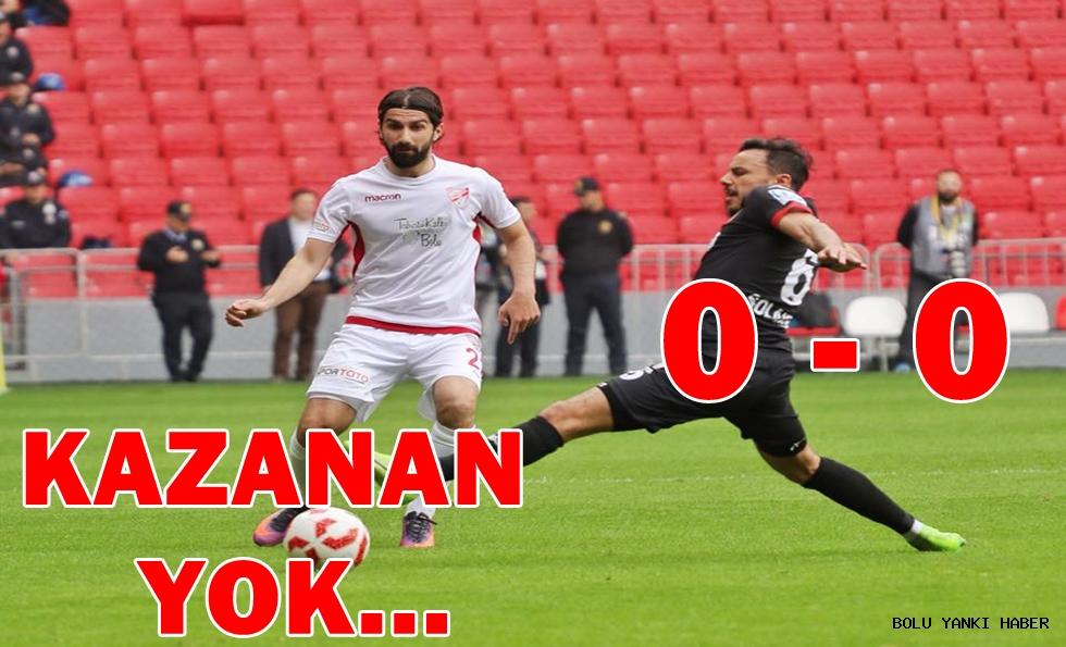 Samsunspor: 0 - Boluspor: 0