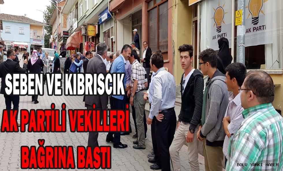 Seben ve Kıbrıscık, AK Partili Vekilleri bağrına bastı