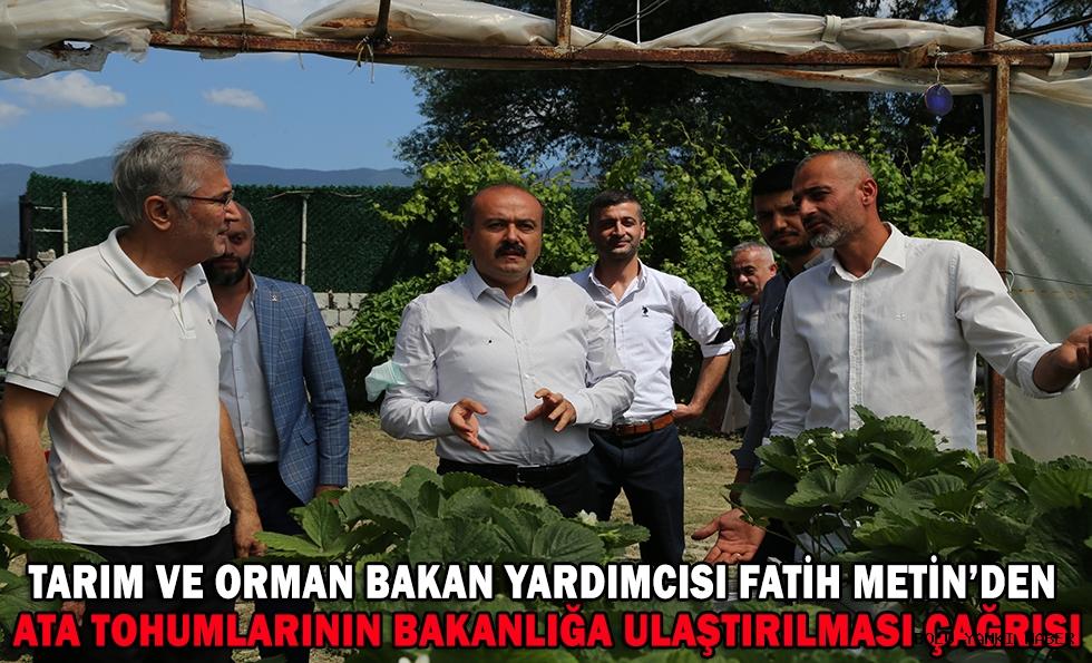 Tarım ve Orman Bakan Yardımcısı Metin'den ata tohumlarının bakanlığa ulaştırılması çağrısı