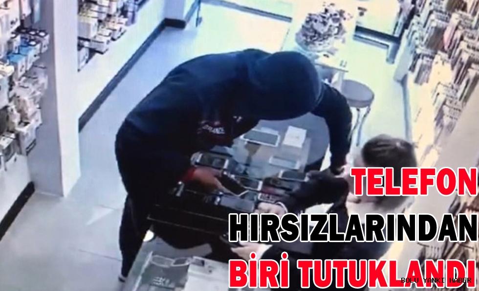 Telefon hırsızlarından biri tutuklandı