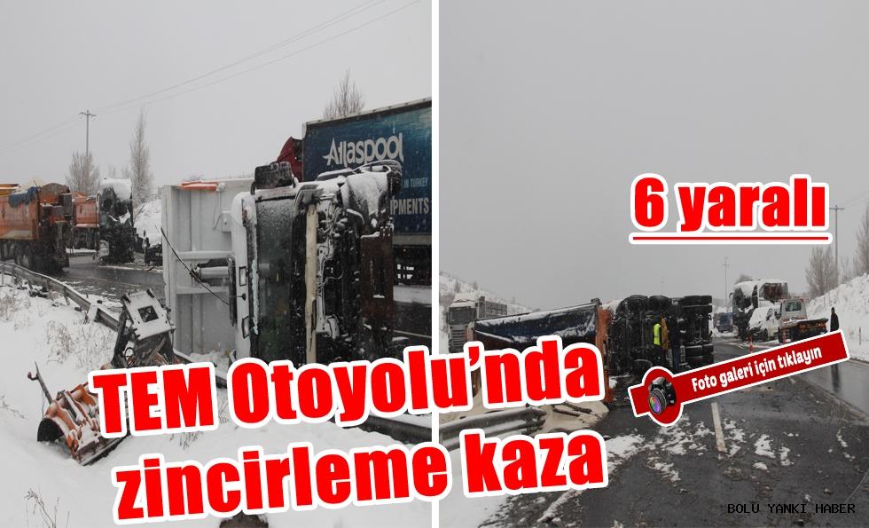 TEM Otoyolu'nda zincirleme kaza; 6 yaralı