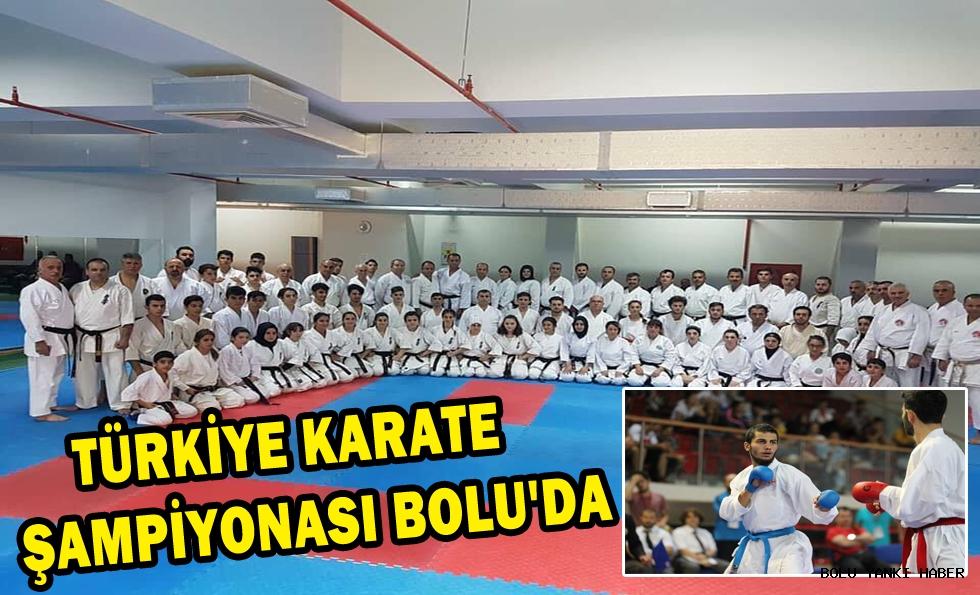 TÜRKİYE KARATE ŞAMPİYONASI BOLU'YA ALINDI