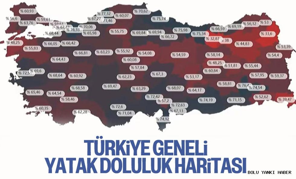 Türkiye'de hastanelerdeki yatak doluluk oranları/ Bolu'da doluluk oranı kaç?