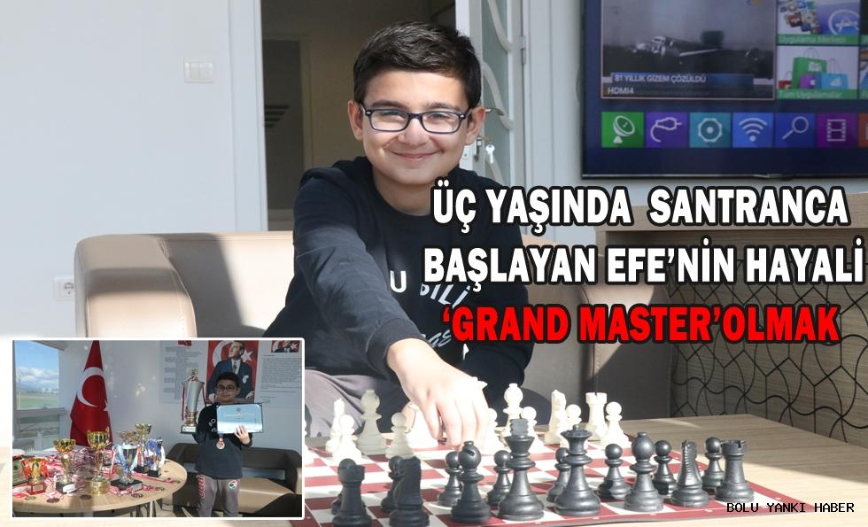 Üç yaşında satranca başlayan Efe'nin hayali 'grand master' olmak