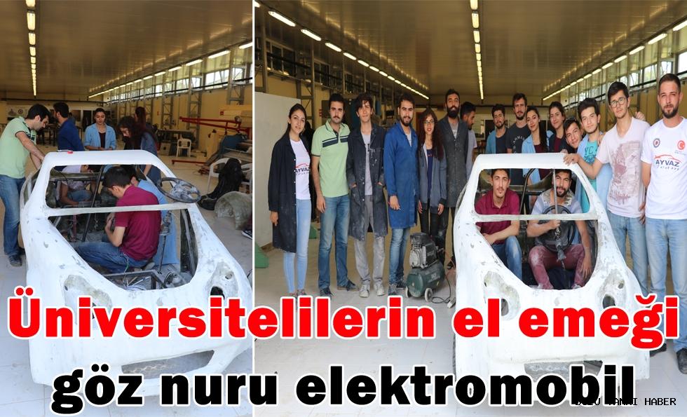 Üniversitelilerin el emeği göz nuru elektromobil