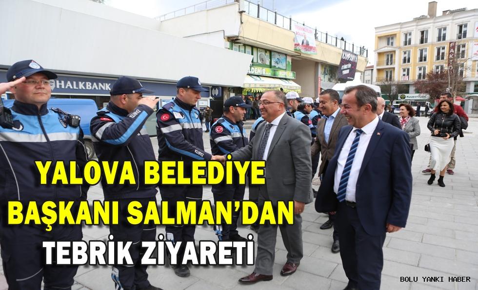 Yalova Belediye Başkanı Salman'dan tebrik ziyareti