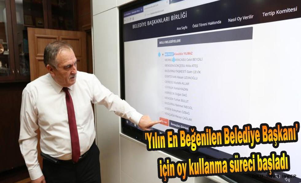 'Yılın En Beğenilen Belediye Başkanı' için oy kullanma süreci başladı